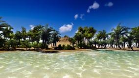 Palm island Royalty Free Stock Image