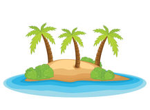 Palm island vector illustration. EPS 8 Royalty Free Stock Image