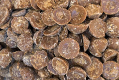 Palm jaggery. Sweet palm jaggery -unrefined sugar concentrate from palm juice-juice obtained from palmyra palm or toddy palm- Scientific name is borassus Royalty Free Stock Photography