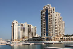 Palm Jumeirah buildings, Dubai Stock Photography