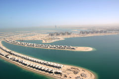 The Palm Jumeirah  in Dubai Stock Images