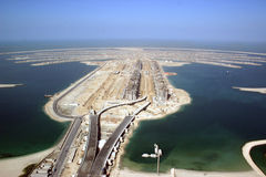 The Palm Jumeirah  in Dubai Royalty Free Stock Images