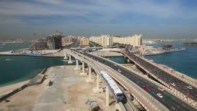 Palm Jumeirah highway, Dubai stock video footage