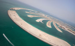 Palm Jumeirah Island Royalty Free Stock Photos