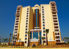 Palm Jumeirah Island Shoreline Apartments 3. Some of the colourful shoreline apartments on Palm Jumeirah Stock Images