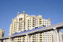 Palm Jumeirah Monorail, Dubai Stock Photos