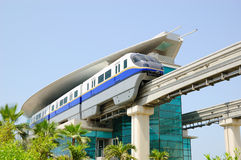 The Palm Jumeirah monorail station Royalty Free Stock Images