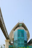 The Palm Jumeirah monorail station Stock Photo