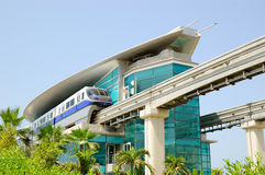 The Palm Jumeirah monorail station Royalty Free Stock Photography