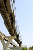 The Palm Jumeirah monorail train Royalty Free Stock Photo