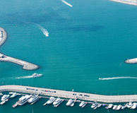 Palm Jumeirah water area Royalty Free Stock Photography