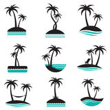 Palm labels set Stock Images