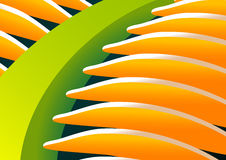 Palm leaf. Abstract background with palm leaf motif stock illustration
