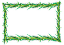 Palm leaf frame Royalty Free Stock Images