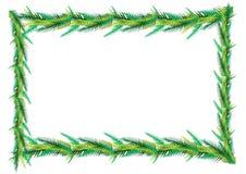Palm leaf frame Royalty Free Stock Images