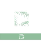 Palm Leaf Frame Stock Image