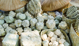 Palm Leaf Handicraft. Handicrafts made from palm leaves for traditional Thai souvenirs Stock Photography