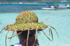 Palm Leaf Hat Stock Photo