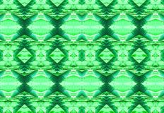 PALM LEAF REPEAT PATTERN IN GREEN HUES. Image of a repeat pattern with a palm leaf motif in green and aqua hues vector illustration