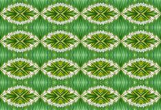 PALM LEAF REPEAT PATTERN. Green repeat pattern with palm motif Stock Image