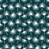 Palm leaf seamless pattern background. Palm leaf textile pattern. Royalty Free Stock Images