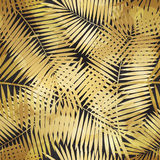 Palm Leaf Seamless Pattern Background Vector Illustration Stock Photography