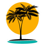Palm Leaf Vector Illustration Stock Photos