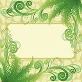 Palm leaves and abstract pattern Stock Image