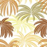 Palm Leaves of a Dry Kind. stock illustration