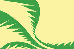 Palm Leaves Layout Stock Photo