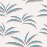 Palm leaves pattern royalty free illustration