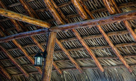 Palm leaves roof Royalty Free Stock Images