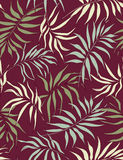 Palm leaves- seamless pattern. Seamless pattern with styled palm leaves Royalty Free Stock Images