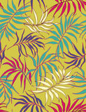 Palm leaves - seamless pattern. Seamless pattern wiht styled palm leaves Stock Photo