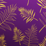 Palm leaves seamless pattern. Vector botanical illustration. Royalty Free Stock Photo