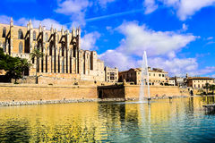 Palm of Majorca, Spain. Palm of Majorca is one of the best interesting places to visit. Spanish  architecture is magnificant, wonderful Stock Image