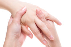 Palm massage Royalty Free Stock Photos