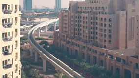 Palm metro line 4k time lapse from dubai Royalty Free Stock Images