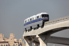 The Palm Monorail in Dubai Royalty Free Stock Photography