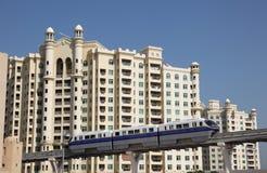 The Palm Monorail in Dubai Stock Photos