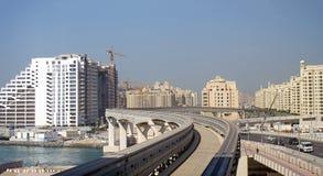 The Palm monorail tracks, Dubai - UAE  Royalty Free Stock Photos