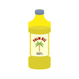 Palm oil bottle. Plastic bottle for food preparation. Royalty Free Stock Photography