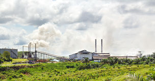 Palm oil crushing plant royalty free stock photo
