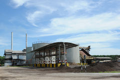 Palm Oil Factory. The outside view of palm oil factory stock photos