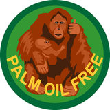Palm oil free label Royalty Free Stock Photo