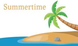 Palm op de Overzeese Banner Stock Foto