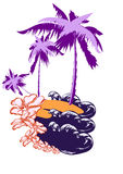 Palm op een woestijneiland Royalty-vrije Stock Afbeelding