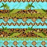 Palm pattern seamless background Royalty Free Stock Image