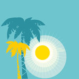 Palm poster Royalty Free Stock Photo