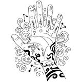 Palm Reading Hand Icon Royalty Free Stock Photography